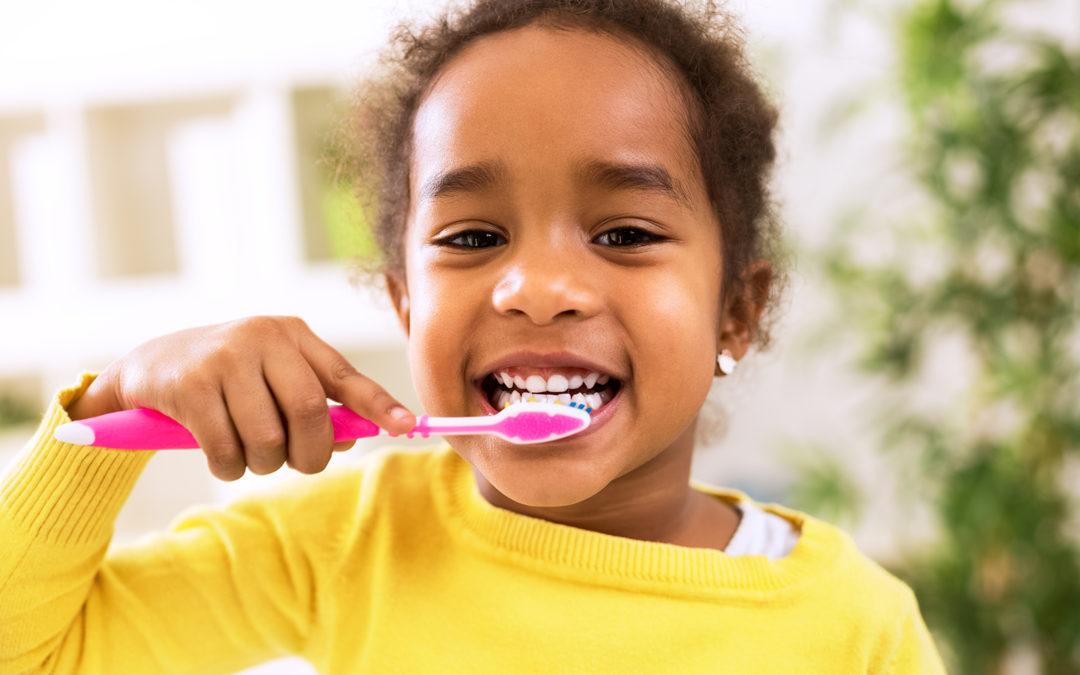 Toothbrush african american girl